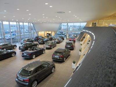 Nijs Lichtprojecten Audi Showroom